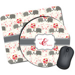 Elephants in Love Mouse Pads (Personalized)