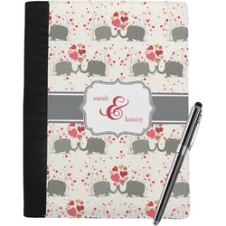 Elephants in Love Notebook Padfolio (Personalized)