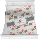 Elephants in Love Minky Blanket (Personalized)