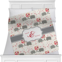 Elephants in Love Blanket (Personalized)