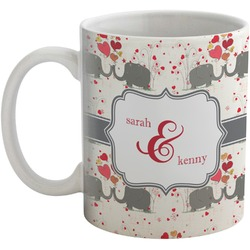 Elephants in Love Coffee Mug (Personalized)