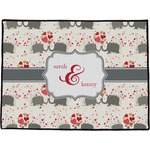 Elephants in Love Door Mat (Personalized)
