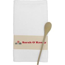 Elephants in Love Kitchen Towel (Personalized)