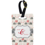 Elephants in Love Rectangular Luggage Tag (Personalized)