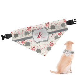 Elephants in Love Dog Bandana - Small (Personalized)