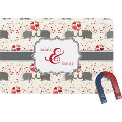 Elephants in Love Rectangular Fridge Magnet (Personalized)