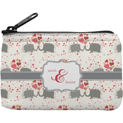 Elephants in Love Rectangular Coin Purse (Personalized)