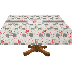 Elephants in Love Tablecloth (Personalized)