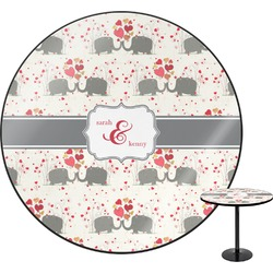Elephants in Love Round Table (Personalized)