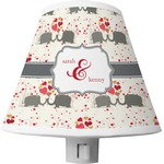 Elephants in Love Shade Night Light (Personalized)
