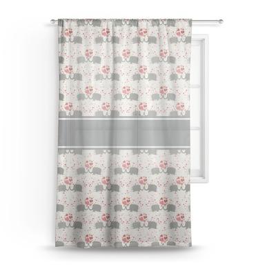 Elephants in Love Sheer Curtain - 50