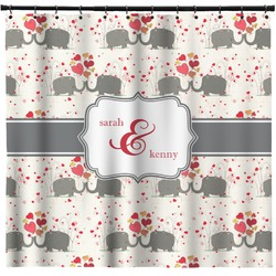 Elephants in Love Shower Curtain (Personalized)