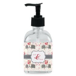 Elephants in Love Soap/Lotion Dispenser (Glass) (Personalized)