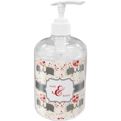 Elephants in Love Acrylic Soap & Lotion Bottle (Personalized)