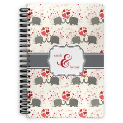 Elephants in Love Spiral Bound Notebook (Personalized)