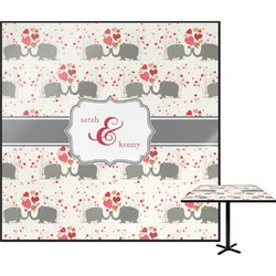 Elephants in Love Square Table Top (Personalized)