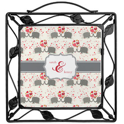 Elephants in Love Trivet (Personalized)