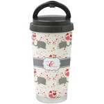 Elephants in Love Stainless Steel Travel Mug (Personalized)