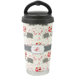 Elephants in Love Stainless Steel Coffee Tumbler (Personalized)