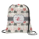 Elephants in Love Drawstring Backpack (Personalized)