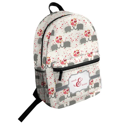 Elephants in Love Student Backpack (Personalized)