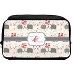 Elephants in Love Toiletry Bag / Dopp Kit (Personalized)