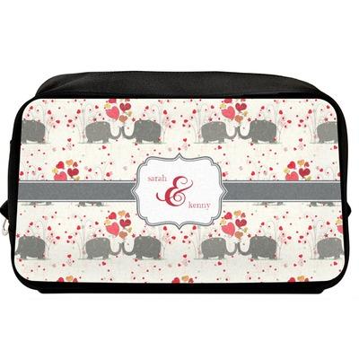 Elephants in Love Toiletry Bag / Dopp Kit (Personalized)