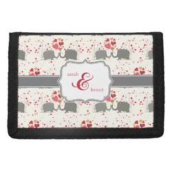 Elephants in Love Trifold Wallet (Personalized)