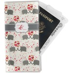 Elephants in Love Travel Document Holder