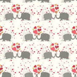 Elephants in Love Wallpaper & Surface Covering