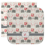 Elephants in Love Facecloth / Wash Cloth (Personalized)