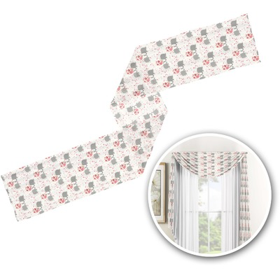 Elephants in Love Window Sheer Scarf Valance (Personalized)