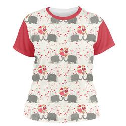 Elephants in Love Women's Crew T-Shirt (Personalized)