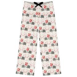 Elephants in Love Womens Pajama Pants (Personalized)