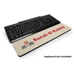 Elephants in Love Keyboard Wrist Rest (Personalized)