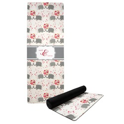 Elephants in Love Yoga Mat (Personalized)