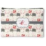 Elephants in Love Zipper Pouch (Personalized)