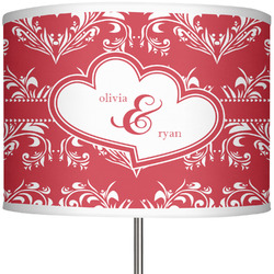 """Heart Damask 13"""" Drum Lamp Shade (Personalized)"""