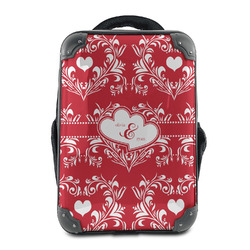 Heart Damask Hard Shell Backpack (Personalized)