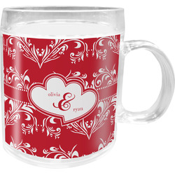 Heart Damask Acrylic Kids Mug (Personalized)