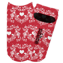 Heart Damask Adult Ankle Socks (Personalized)