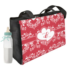 Heart Damask Diaper Bag (Personalized)