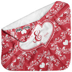 Heart Damask Baby Hooded Towel (Personalized)