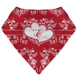 Heart Damask Bandana Bib (Personalized)
