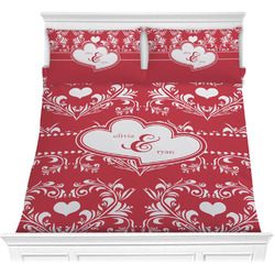 Heart Damask Comforters (Personalized)