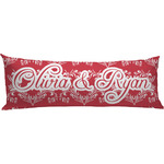 Heart Damask Body Pillow Case (Personalized)