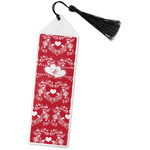 Heart Damask Book Mark w/Tassel (Personalized)