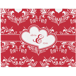 Heart Damask Placemat (Fabric) (Personalized)