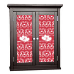Heart Damask Cabinet Decal - Custom Size (Personalized)