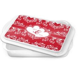 Heart Damask Cake Pan (Personalized)